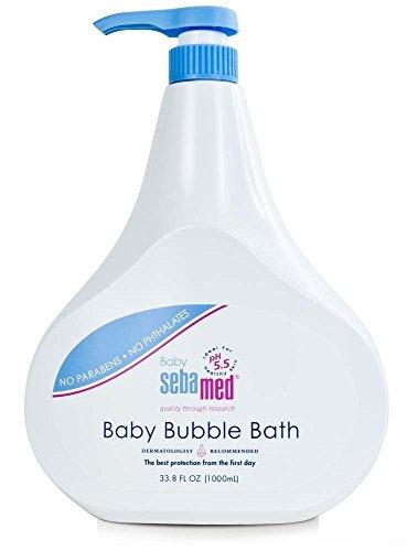 Sebamed No Tears No Phthalates Baby Bubble Bath with Pump, 1 L