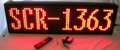 "Scr-1363 - Single Color Red Indoor Prog. Scrolling Sign (Size: 13""H X 63""L X 3 1/2""D)"