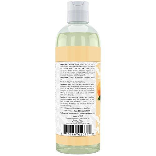 Beauty Aura 100% Pure Apricot Kernel Oil 16 Oz