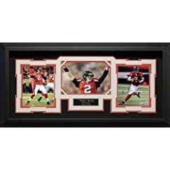 Matt Ryan signed three photo collage, matted and framed