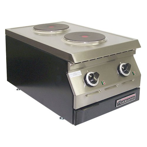"208V Single Phase Garland Ed-15Thse Designer Series 15"" Two Burner Electric Countertop Hot Plate - 7"