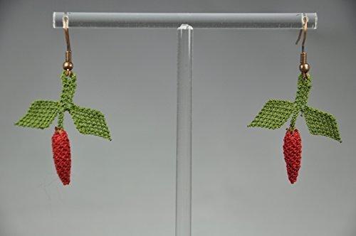 orecchini-punto-ago-peperoncino-eardrops-needle-lace-chili-peppers