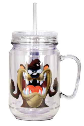 Looney Tunes Taz Mason Jar, Brown