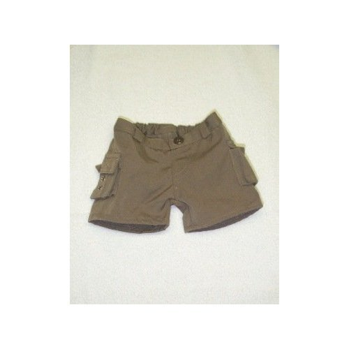 "Cargo Shorts Teddy Bear Clothes Fit 14"" - 18"" Build-a-bear, Vermont Teddy Bears, and Make Your Own Stuffed Animals - 1"
