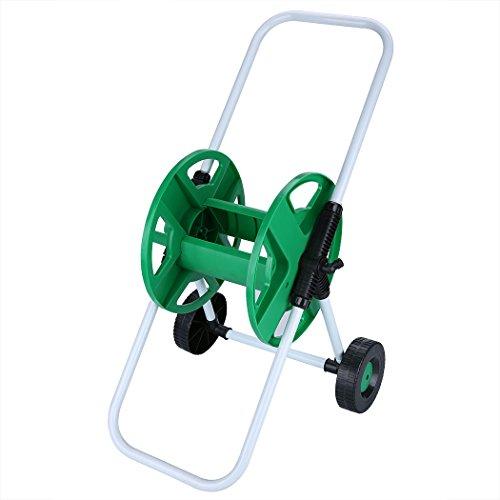 Gracelove Garden Tool Portable Hose Pipe Holder Trolley Cart Garden Water Free Standing (Green) (Garden Hose Trolley compare prices)