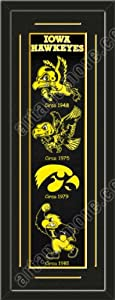 Heritage Banner Of Iowa Hawkeyes With Team Color Double Matting-Framed Awesome &... by Art and More, Davenport, IA