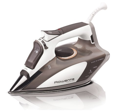 Rowenta DW5080 Focus Auto-Off 400-Hole Stainless Steel Soleplate Steam Iron,1700-Watt, Beige