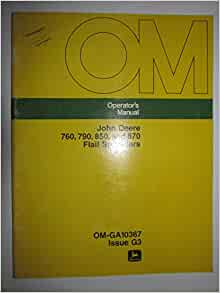john deere 1070 operators manual