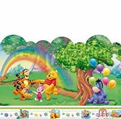 Home Decor Mural Art Wall Paper Stickers--Pooh&rainbow :  home decoration victorias deco victoriasdeco wall stickers