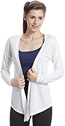ONLY Women's White Colored Casual Cardigan (15101040-CloudDancer_Small)
