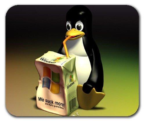 linux-penguin-tux-sucking-windows-straw-drinking-mousepad-mouse-pad-mat-mousepad-mouse-pad-mouse-mat