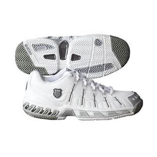 Women's K-Swiss Stabilor SLS Tennis Shoe - White/Platinum/Charcoal