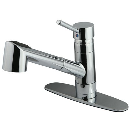 Kingston Brass GS8571WDL Wilshire Low Lead Compliant Single Handle Kitchen Faucet, Polished Chrome