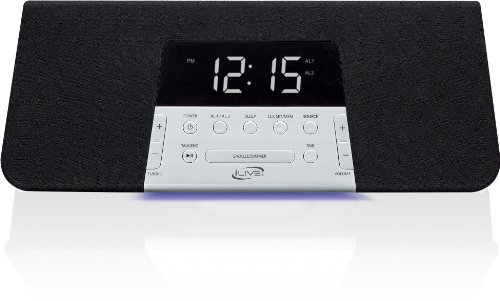Ilive Icb352B Bluetooth Alarm Clock Radio With Dual Alarms - Black