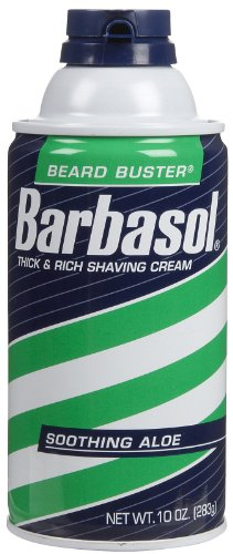 Barbasol Soothing Aloe Skin Thick and Rich Shaving Cream 10 oz