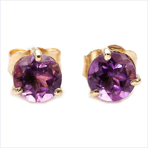 Jewelry-Schmidt-Earrings Amethyst Yellow Gold 10 carat (416 stainless)