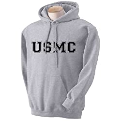 USMC Athletic Marines Hooded Sweatshirt in Gray