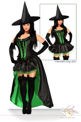 Daisy corsets Women's Wicked Witch Costume (5 Piece)