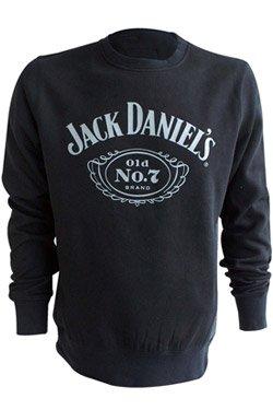Jack Daniels - Felpa con motivo: Daniel's Old No.7, taglia L, colore nero