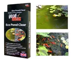 Good Ideas Organic Eco Pond Clear Pond Cleaner (1239) Cleans algae, blanket weed, scum and duckweed. Harmless to fish and plants.