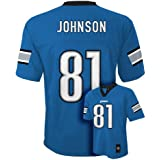Calvin Johnson Detroit Lions Light Blue NFL Youth 2015-16 Season Mid-tier Jersey