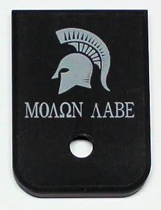 Magazine Base Plate for Glock 9mm & 40 Molon Labe Spartan Helmet