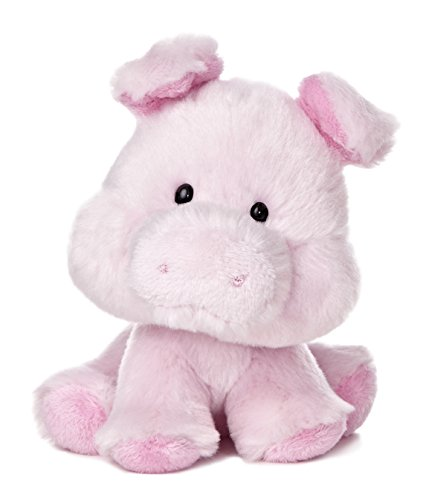 "Aurora World Wobbly Bobblee Pig Plush, 6.5"" Tall"