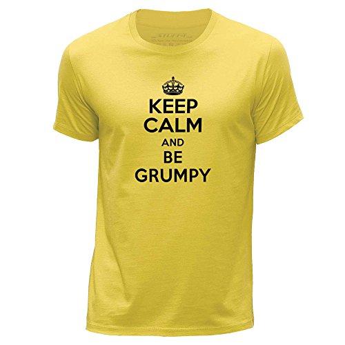 STUFF4-HombresGrande-LAmarilloCuello-redondo-de-la-camisetaKeep-Calm-Be-Grumpy
