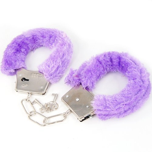 TOOGOO(R) Furry Fluffy Fur Handcuffs Stag Hen Night Fancy Dress Valentines Secret Santa