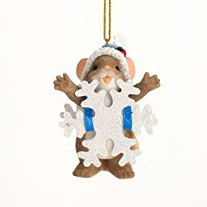 Charming Tails Blizzard of Blessings Snowflake Ornament 2012