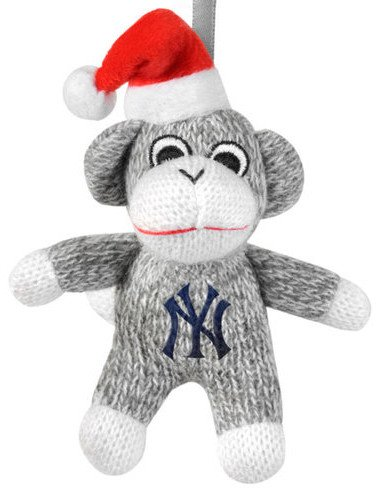 York Yankees MLB 2013 Sock Monkey Stuffed Christmas Ornament at 'Sock Monkeys'