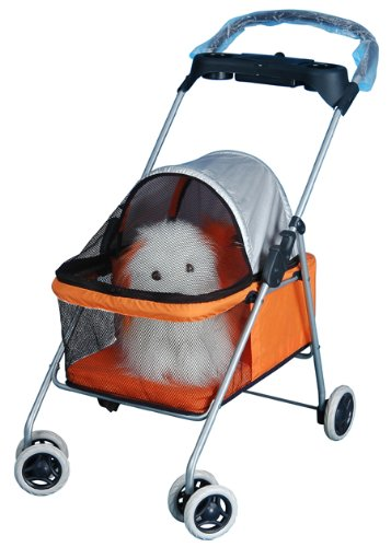 Pet Dog Cat Bed Stroller Carrier Orange 503