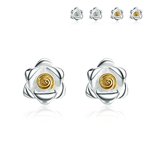 amdxd-jewelry-silver-plated-women-stud-earrings-rose-flower-gold
