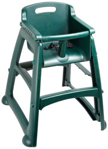 "Rubbermaid FG781408 Dark Green Sturdy Chair Youth Seat without Wheels, 23.5"" Length, 23.5"" Width, 29.75"" Height"