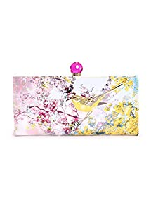 Ted Baker Pretty Trees Print Matinee Wallet,Dusky Pink,One Size