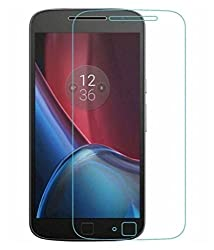 Motorola Moto G4 Plus Compatible Tempered Glass Screen Protector (Antishock, Curved Edged) (Pack of 2, Only Front Transparent Screen Protector) (Combo Offer, get a VJOY EP-10 Champ in the ear earphone, with mic (BLUE) Compatible with Motorola Moto G4 Plus worth Rupee 599/- absolutely free with Screen Protector)