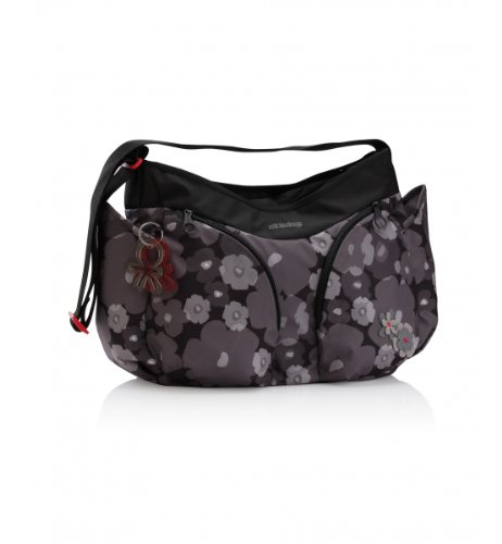 okiedog Changing Bag - Flower Power Mondo - Grey