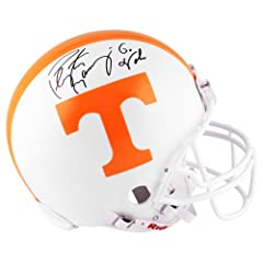 Peyton Manning Tennessee Volunteers Autographed Riddell Pro Helmet with Go Vols...