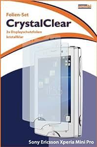 "2 x mumbi Displayschutzfolie Sony Ericsson Xperia Mini Pro Displayschutz ""CrystalClear"" unsichtbar"