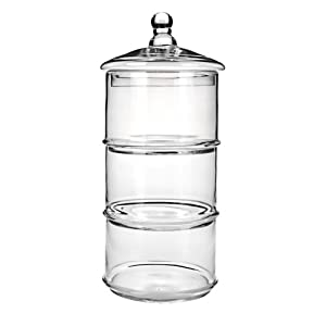 Global Amici Z7JK001GBR 3-Tier Cannister Set, 48-Ounce, Small