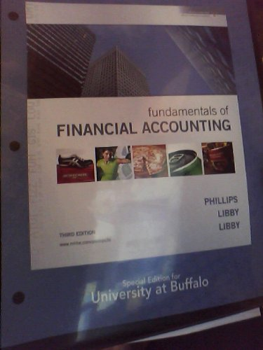Fundamentals of Financial Accounting~Special Edition for University at Buffalo New York State