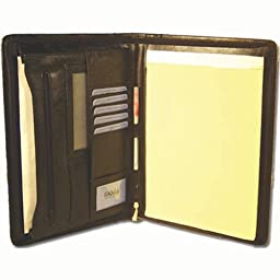 100% Leather Organizer Notepad Holder Black #91972