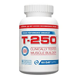 Testosterone Booster For Men- T-250, 120 capsules Maximum Strength Capsules, Best Testosterone Booster For Men