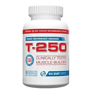 Testosterone Booster For Men- T-250, 120 Maximum Strength Capsules, Best Testosterone Booster For Men