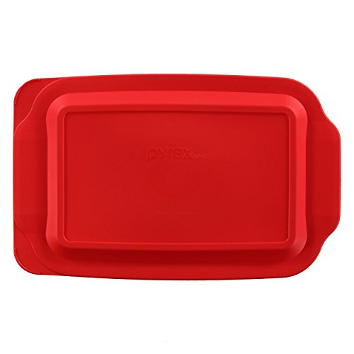 Pyrex Red Plastic Lid for 3 Qt Oblong Baking Dish 233-PC Will Not Fit Easy Grab Dish with Handel (3 Qt Pyrex Lid compare prices)