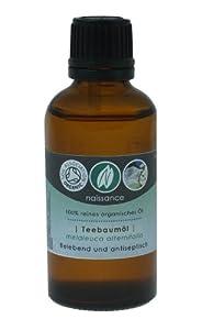 Bio Teebaumöl - 100% naturreines ätherisches Öl - Organisch zertifiziert - 50ml