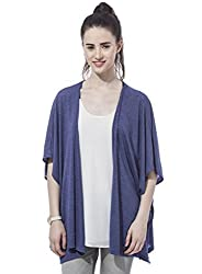 Besiva Women'S Blue Baggy Cardigan