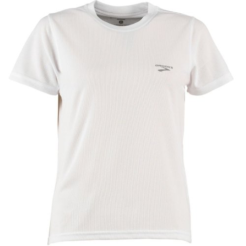 Brooks Womens Team Podium Running T-Shirt White