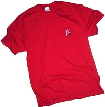 Star Trek (The Original Series) Engineering & Security Red Uniform Adult T-Shirt, Small