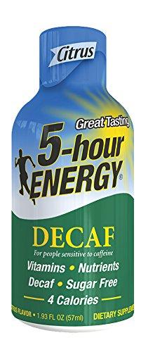 5 Hour Energy Shot, Decaf Citrus, 12 Count